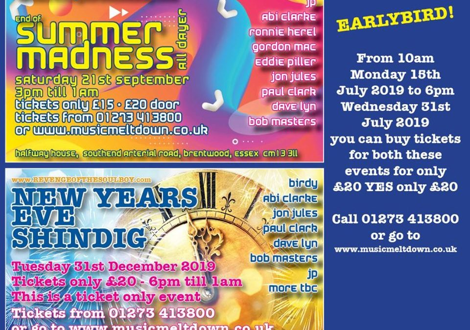End Of Summer Madness, New Years Eve July Special